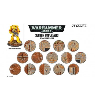 [Warhammer 40000] sector imperialis Socles Ronds 32mm