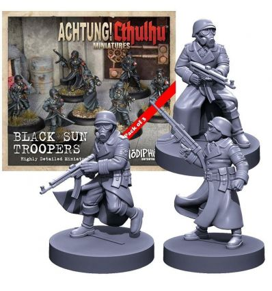 [Achtung! Cthulhu Miniatures] Black Sun Troopers unit pack