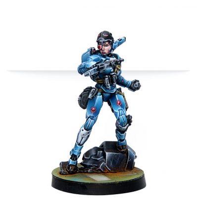 [Infinity] Patsy Garnett, Orc Troops Varuna Div. NCO (Submachine Gun)